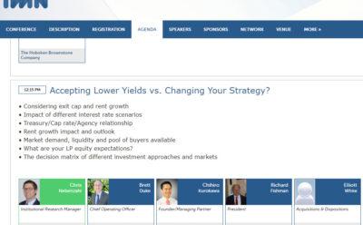 ValCap President Richard Fishman speaks at IMN Middle-Market Multifamily Forum (Southwest)
